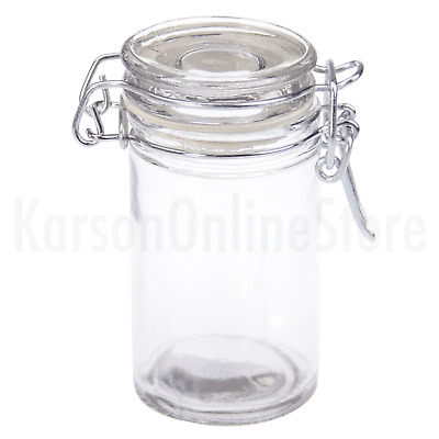 Glass Clip Jar Storage 70ml Rubber Seal Wedding Favours Kitchen Herb Spice Bulk