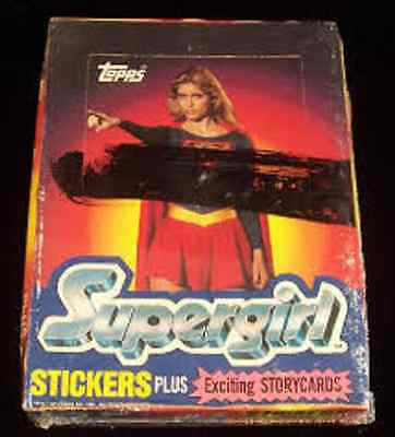 1984 topps SUPERGIRL box Movie Stickers Storycards 36 sealed packs Helen Slater