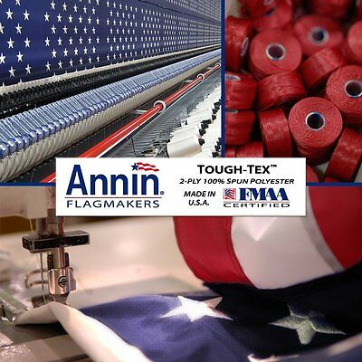 10x15 FT US American Flag Annin Tough Tex Polyester Flag 6 Rows Of Stitching