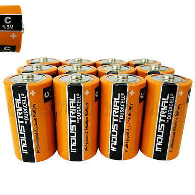 12 Duracell C Size batteries Alkaline 1.5V Industrial Procell LR14 MN1400 EX2022