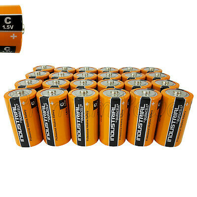 24 Duracell C Size batteries Industrial Procell Alkaline LR14 MN1400 1.5V EX2022