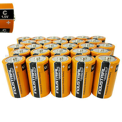 27 Duracell C Size batteries Industrial Procell Alkaline LR14 MN1400 1.5V EX2022
