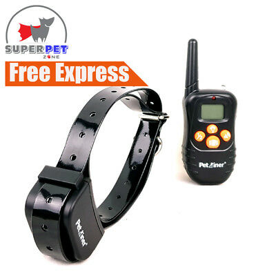 Anti Bark Stop Barking Dog Training Remote Collar Rechargeable Vibration 3 in 1
