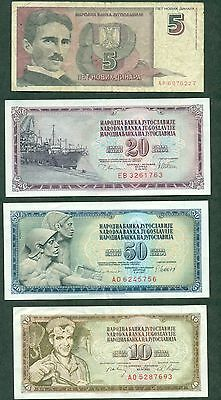 Yugoslavia Currency Group Of 6 Different