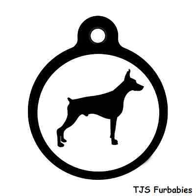 Doberman Pinscher-Custom Personalized Pet ID Tag for Dog & Cat Collars