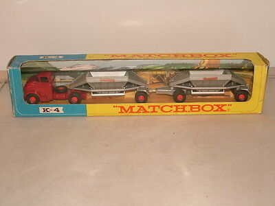 Matchbox Kingsize No K-4 Fruehauf Hopper train VNMB