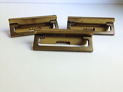 (3) Vintage Salvaged Metal Cabinet Drawer Furniture Pull Handle Retro Modern