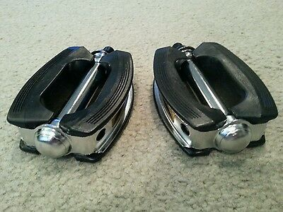 Oversized Schwinn Stingray Krate Bicycle  Pedals Vintage Cruiser Bow Style 1/2""