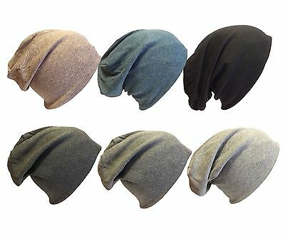 Mens Ladies Jersey Slouch Beanie Hat