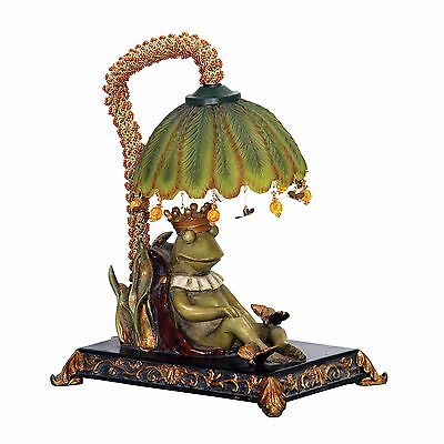 Frog Table Lamp Small Whimsical Nightlight Accent Lamp Collectible Too Cute
