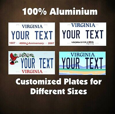 Virginia State Car Auto OR Motorcycle Novelty Custom Personalized Plates Tag