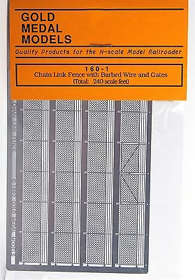 Gold Medal Models 160-1 – Chain Link Fence W/Gates – N Scale