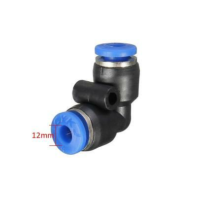 5pcs 12mm Pneumatic Push In Fittings Elbow Connector for Air/Water Hose Tube