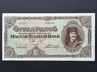 Hungary 50 Fifty Pengo P110 Dated 1945 Uncirculated UNC