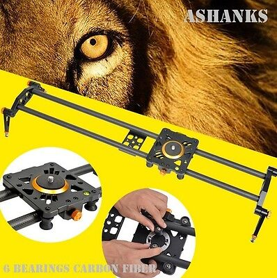Ashanks 100cm 6 Bearings Carbon Fiber DSLR Camera Slider Track Video Stabilizer
