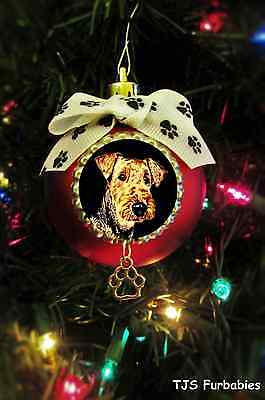 Airedale Terrier Christmas Ball Ornament Pet Lovers Gift by TJS Furbabies