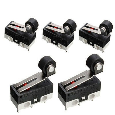 5pcs Ultra Mini Micro Limit Switch Roller Lever Microswitch SPDT Sub Miniature