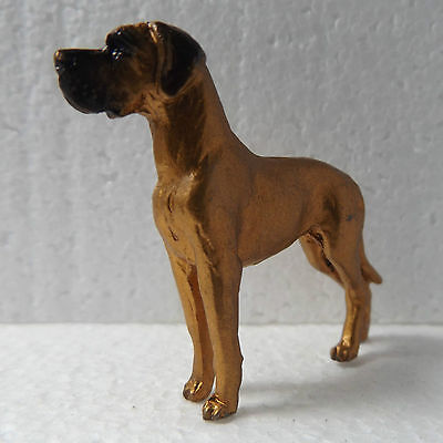 Great Dane Mini Model Ornament Handpainted Handcrafted Sculpture