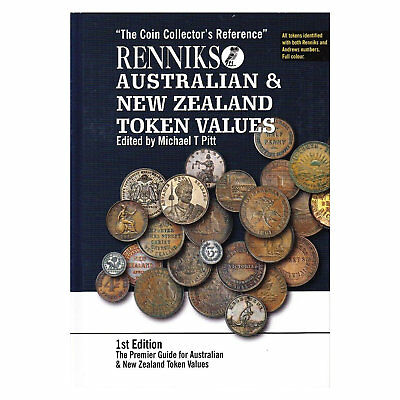 Renniks Australian and New Zealand Token Values 1st Edition Hard Cover Book