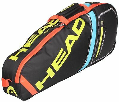 Head Core Pro 3 Tennis Racquet Racket Bag Black & Multi Colour