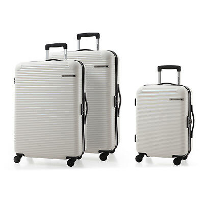 3pc ABS Expandable Carry on Spinner Wheels Luggage Set Travel Business Suitcase