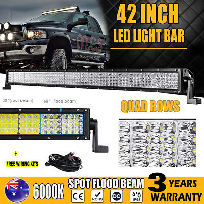 42Inch 2880W Philips Spot Flood Led Light Bar Offroad 4x4wd Work Lamp for Jeep