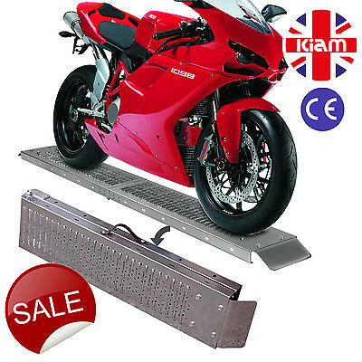1.8M Steel Folding Loading Ramp Trailer Van Motorbike Quad Lawn Mower