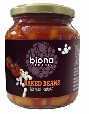 NEW Biona Baked Beans in Tomato Sauce (Organic) ~ 340g