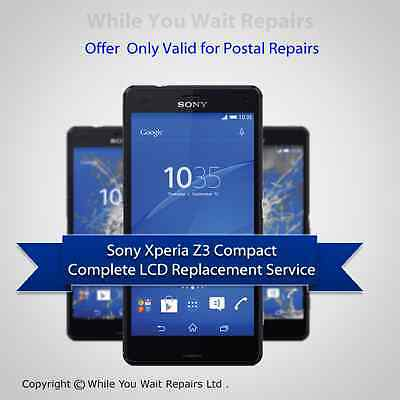Sony Xperia Z3 Compact Mini Screen Lcd Touch Repair Service Replacement Fast!!