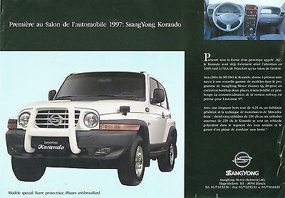 1997 Ssangyong Korando Preview Flyer (Swiss)
