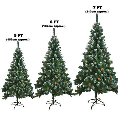 Large Artificial Christmas Tree Snow Cones Realistic Xmas Trees 5ft 6ft 7ft