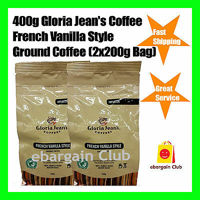 400g Gloria Jeans Coffees French Vanilla Style Ground Coffee (2x200g Bag)