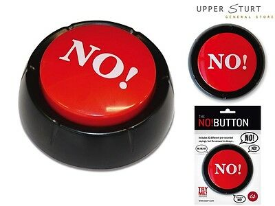 """The NO! Button Includes 10 different pre-recorded  """"No"""" sayings FREE DELIVERY"""