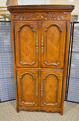 Vintage Drexel Country French Style Armoire w/Fitted Interior
