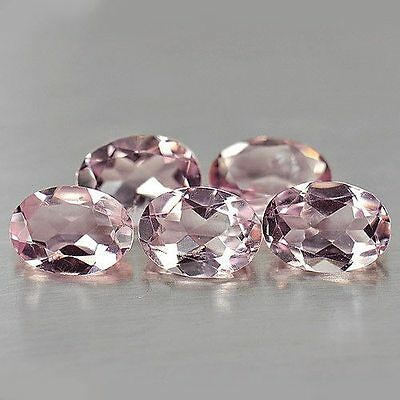 Morganite Oval Cut 6X4 Mm All Natural Soft Pink