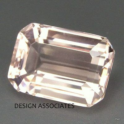 Morganite 8X6 Mm Emerald Cut All Natural Soft Pink
