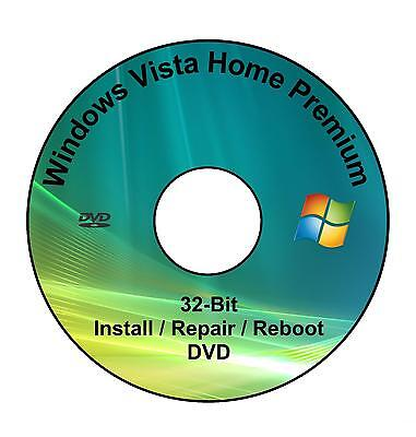 Windows Vista Home Premium 32-Bit Installation & Format HDD DVD Disc
