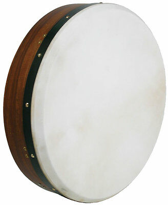 "Glenluce Deluxe TUNEABLE BODHRAN. 18"" Irish Folk Drum, one strut. From Hobgoblin"