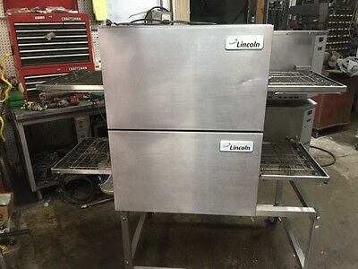 Lincoln Impinger Double Stack Conveyor Pizza Oven Model 1116