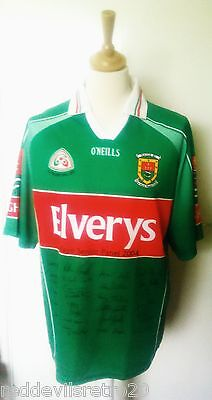 Mayo GAA (2004 All Ireland Final) Squad Autograph Gaelic Football Shirt Adult L