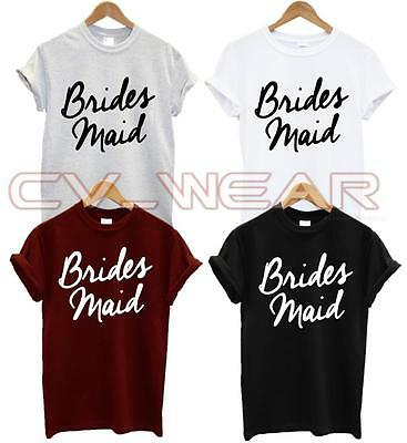 Brides Maid T Shirt Wifey Friend Wedding Fashion Swag Dope Gift Hubby Unisex New