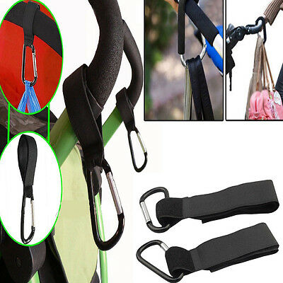 4 x Universal Stroller Pram Pushchair Clip Shopping Bag Hooks Stroller Holder