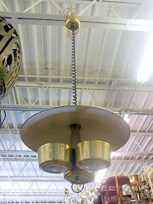 MCM Light Fixture Atomic Saucer Gerald Thurston Wormey LIGHTOLIER