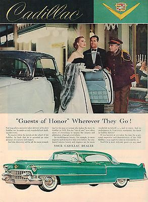 big 1955 CADILLAC (Coupe DeVille) AD / ADVERTISEMENT