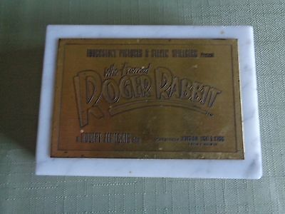Disney Who Framed Roger Rabbit Cast Crew Gift Paper Weight Rare