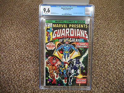 Marvel Presents 3 cgc 9.6 WHITE pgs 1st solo Guardians of the Galaxy 1976 movie