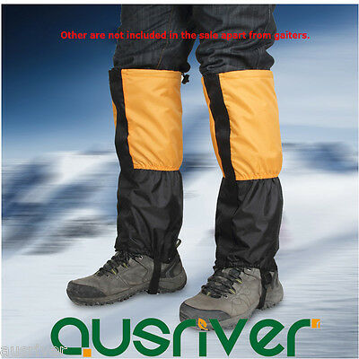 Waterproof Legging Gaiters Protective Cover Fleece Hiking Climbing Winter Warm