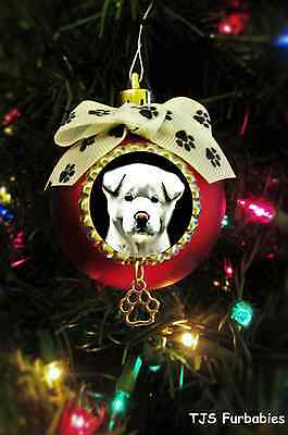 Akita Puppy-Christmas Ball Ornament Pet Lovers Gift by TJS Furbabies