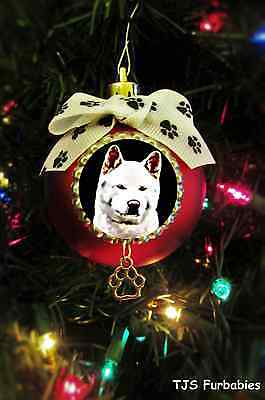 Akita-Painted Christmas Ball Ornament Pet Lovers Gift by TJS Furbabies