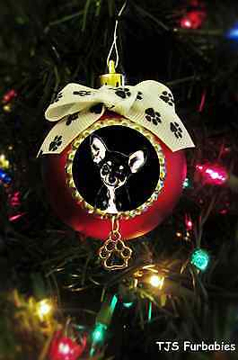 Chihuahua-Painted Christmas Ball Ornament Pet Lovers Gift by TJS Furbabies